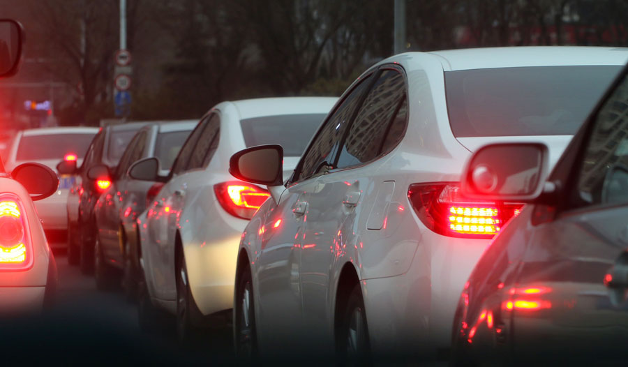 Traffic jams pose dangers to health